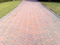The finished driveway ready to be resanded.