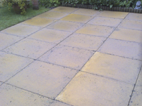 the finished patio.