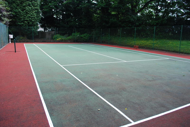 The court is now safe to play on at a fraction of the cost of a new court