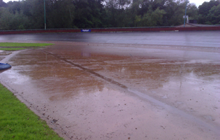 The summer flooding had made the track unusable