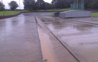 Both the track and the velodrome were covered in inches of mud and silt